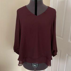 Plum LC Lauren Conrad blouse